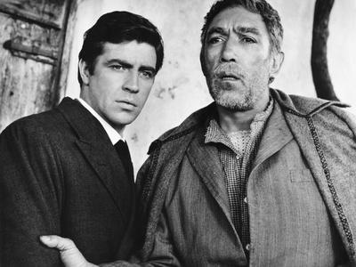 Zorba the Greek, L-R, Alan Bates, Anthony Quinn, 1964