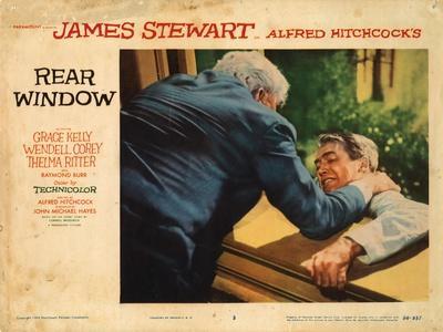 Rear Window, L-R: Raymond Burr, James Stewart, 1954