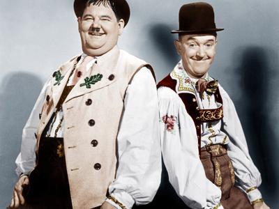 Swiss Miss, L-R: Oliver Hardy, Stan Laurel (AKA Laurel and Hardy), 1938