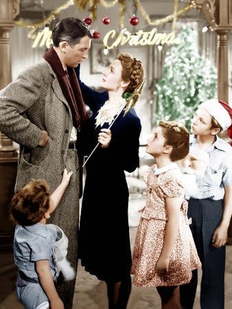 It's a Wonderful Life, Jimmy Hawkins, James Stewart, Donna Reed, CArol Coomes, Larry Simms, 1946