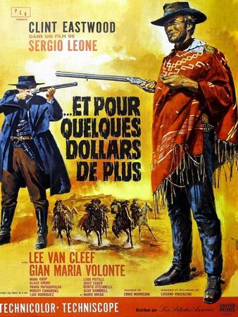 For a Few Dollars More, Clint Eastwood on French Poster Art, 1965