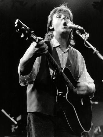 Paul Mccartney on Stage In, 1989