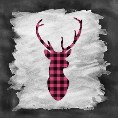 Pink Plaid Deer