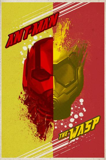 Ant Man And The Wasp Colorful Half Ant Man Half Wasp Helmet