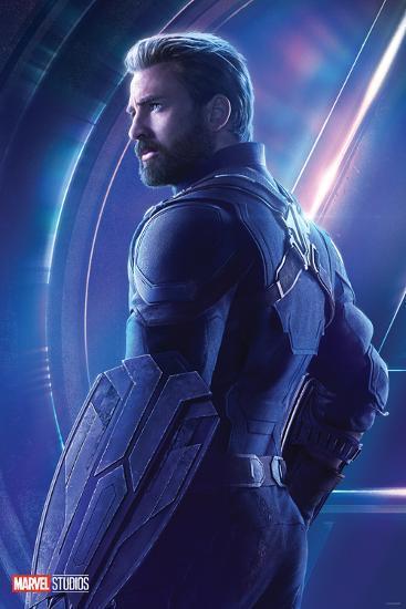 avengers: infinity war - steve rogers, captain america posters at