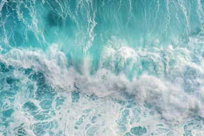 Aerial View of the Ocean Wave