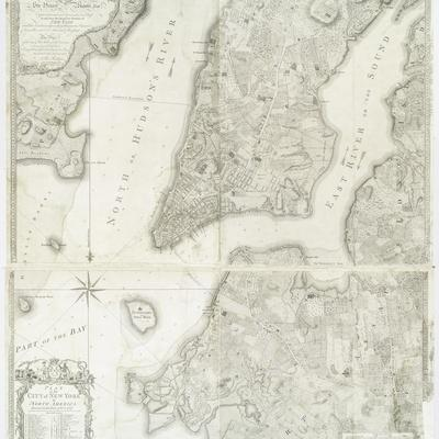 Plan of the city of New York in America as surveyed in the years 1766 & 1767