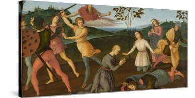 St. Jerome Saving Sylvanus and Punishing the Heretic Sabinianus, 1502-1503
