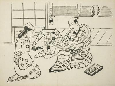 The Suetsumuhana Chapter from The Tale of Genji , from a series of Genji parodies, c.1710