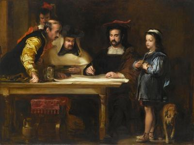 Christopher Columbus in the Convent of La Rábida Explaining His Intended Voyage, 1834