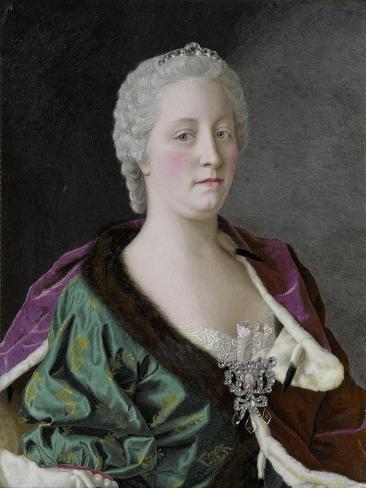 Jean Etienne Liotard Maria Theresia van Oostenrijk Giclee Canvas Print Poster