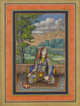 """Portrait of a Persian Lady"", Folio from the Davis Album, c.1736-37"