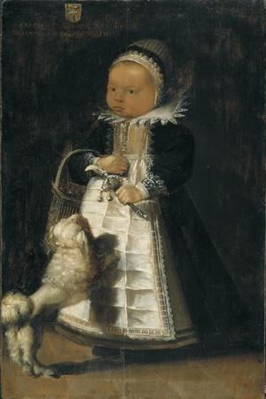 Portrait of a Girl with a Dog, c.1610
