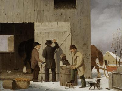 Selling Corn, Settling the Bill, 1852