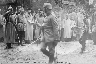 Kaiser Wilhelm at the Crown Prince's headquarters, 1914-5