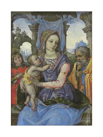 Madonna and Child with Saint Joseph and an Angel, c.1490