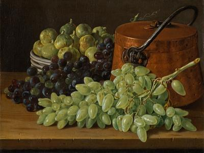 Still Life with Grapes, Figs, and a Copper Kettle, c.1770