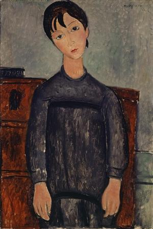 Girl Standing in a Black Pinafore, 1918