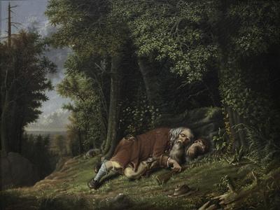 Rip Van Winkle Asleep, 1879-80