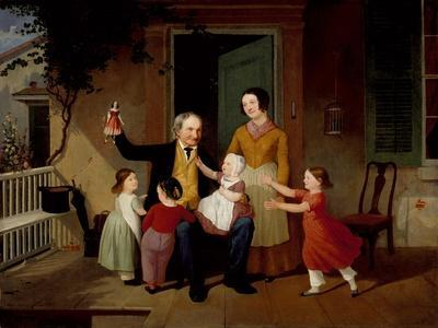 A Visit from Grandfather, c.1850