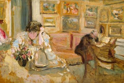 Jos and Lucie Hessel in the Small Salon, Rue de Rivoli, c.1900-05