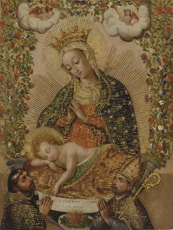 The Virgin Adoring the Christ Child with Two Saints, 18th century