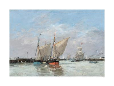 Trouville, The Jetties, High Tide, 1876