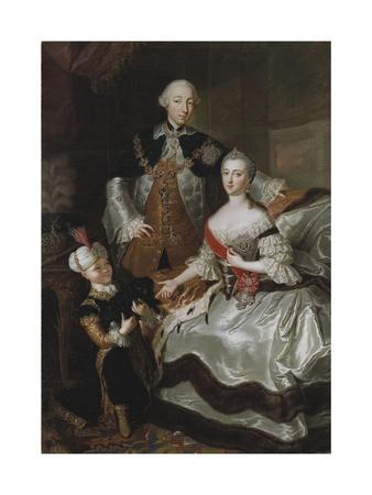 Peter III and Catherine II of Russia with their son Paul, c.1756