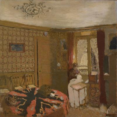 Mme Vuillard Sewing by the Window, rue Truffaut, c.1899