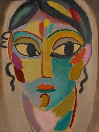 Mystical Head: Head of a Girl, 1918