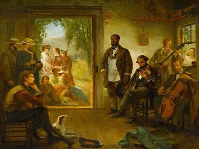 The Musicale, Barber Shop, Trenton Falls, New York, 1866