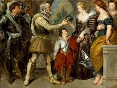 Henri IV Conferring the Regency upon Marie de'Medici , c.1830-4