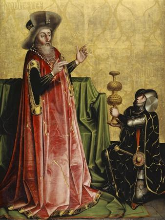 Abischai before David from the Heilspiegel Altarpiece, c.1435