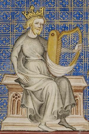 King David from the Bible Historiale, c.1360-70