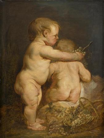 Two Naked children with Grapes, c.1630-40
