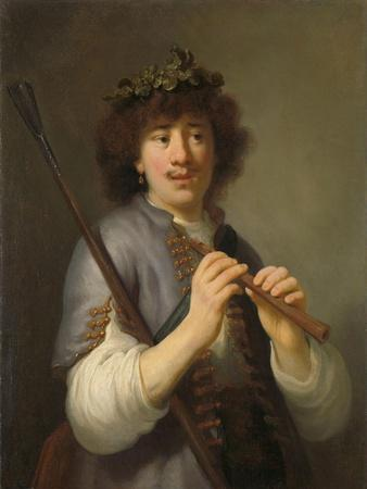 Rembrandt as Shepherd with Staff and Flute, 1636