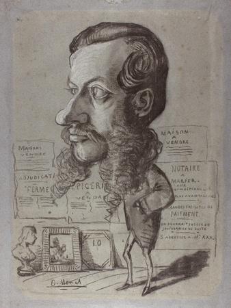 Caricature of Léon Manchon, c.1858