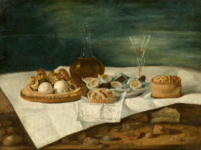 Still Life with Pasteries, Wine, and Eggs, c.1770-1790
