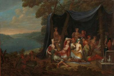 Fête champêtre with Turkish Courtiers under a Tent, c.1720-37