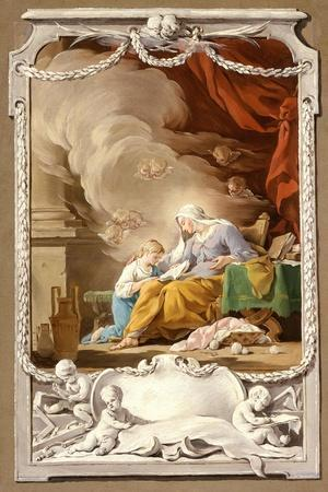 St Anne Revealing to the Virgin the Prophecy of Isaiah, c.1749