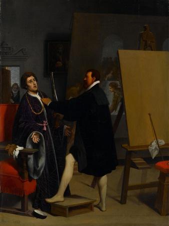 Aretino in the Studio of Tintoretto, 1848