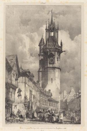 Big Clock Tower Evreux, Normandie, France, 1824