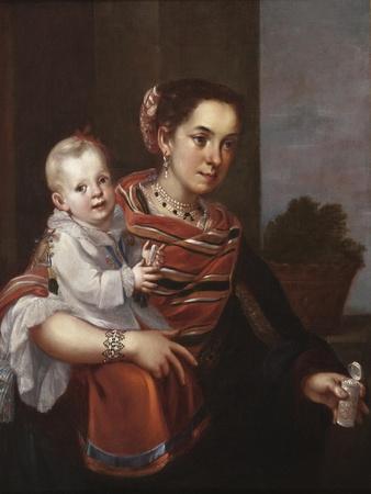 Morisca Woman and Albino Girl, c.1750