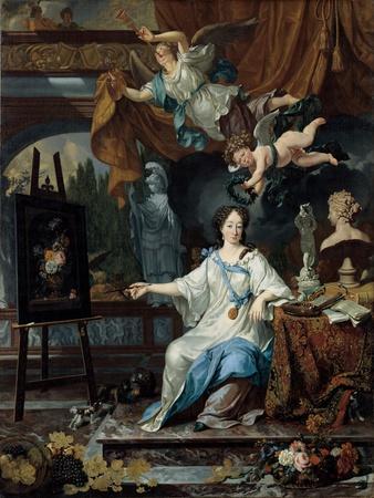 Allegorical Portrait of an Artist in Her Studio, c.1675-1685