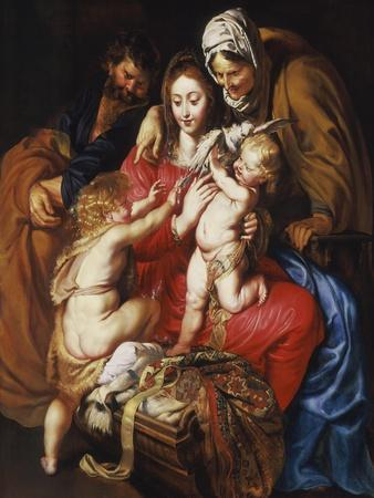 The Holy Family with St Elizabeth, St John and a Dove, c.1609