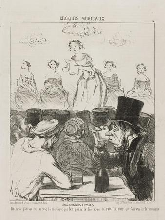 At the Champs-Elysées, plate 3 from Croquis Musicaux, 1852