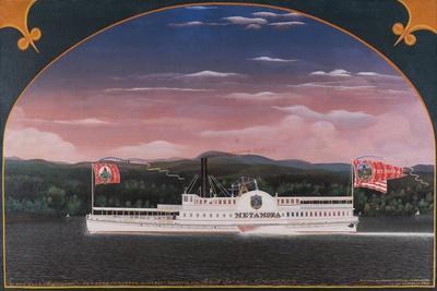 Paddle Steamboat Metamora, 1859