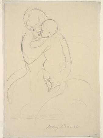 Maternal Caress, 1921  wove paper)
