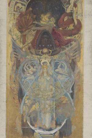 Design for Boston Public Library, 1890-4