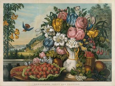 Landscape, Fruit and Flowers, 1862